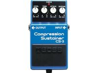 Boss CS-3 Compression Sustainer Compressor Compact Guitar Foot Pedal (BRAND NEW IN BOX)