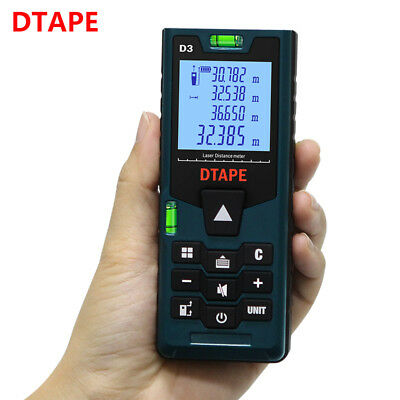Dtape D3 120m Digital Lcd Laser Distance Meter Range Finder Measure Tape Tool
