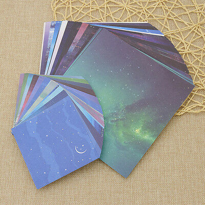 Origami Color Paper Crafts Universe Star Moon DIY Making Scrapbooking - Origami Crafts