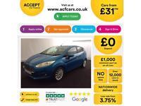 Ford Fiesta 1.0, 1.2, 1.4, TDCI Titanium Zetec BLUE, 5dr FROM £31 PER WEEK