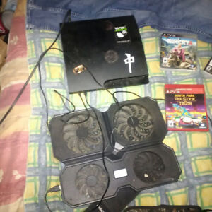 PS3 and games and controller and 40 digital on it and 1tb HD
