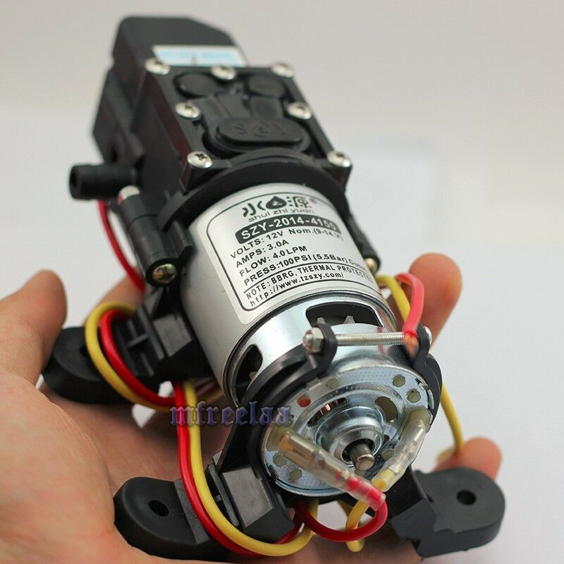 80PSI DC12V 4L/Min Solid Electric Diaphragm Water Pump Self Priming for RV Boat