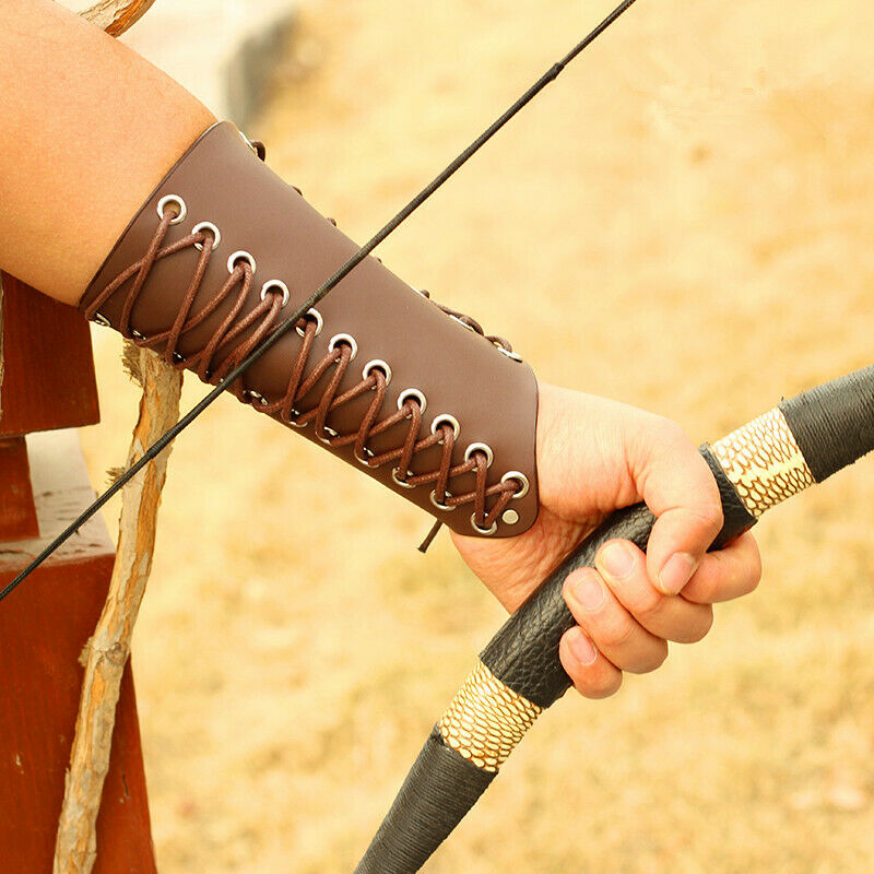 Arm Guard Archery Protector Gear Traditional Bow Arrow Leather Shooting Hunting