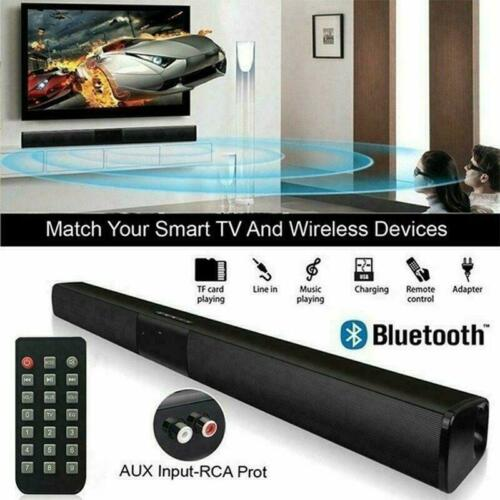 Bluetooth Sound Bar Speaker 3D Stereo System TV Home Theater