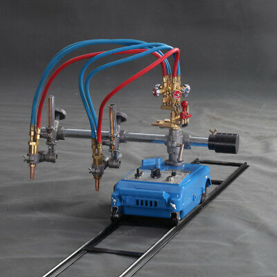 Double Torch Track Burner Portable Handle Gas Cutting Machine 110v