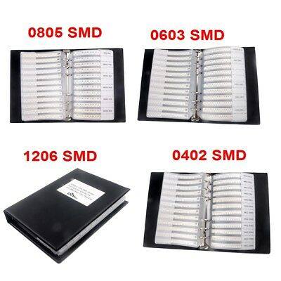0805 0603 04021206 Smd Resistor Capacitor Sample Book Combo Assortment Kit