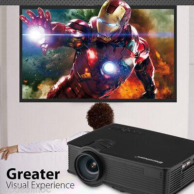 Excelvan 7000Lumen 1080P HD LCD LED Projector Home Theater 3D AV SD 2*USB VGA