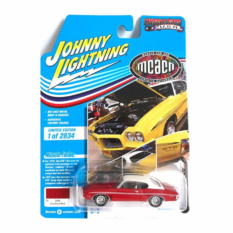 Johnny Lightning JLMC024B-4 Pontiac Gto Red/White - Muscle Cars USA 1:64 New !°