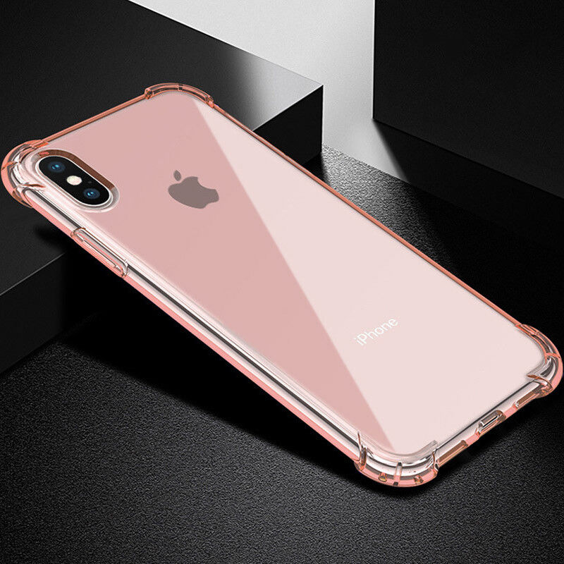 For iphone XS Max 8 X 6S 7 Plus Case Clear Hybrid Slim Shockproof Soft TPU Cover