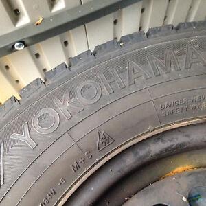 Yokohama M&S tires with steel rims