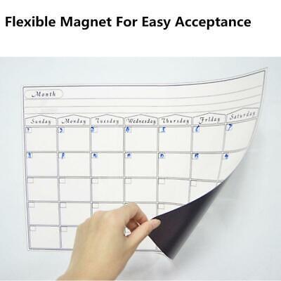 Monthly Planner Whiteboard Magnetic Dry Erase Calendar Fridge Marker Message Pad