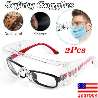 Safety Ppe Goggles Anti-uv Personal Protective Glasses Work Lab Eye Protection