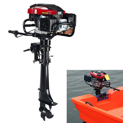 Outboard Motor 7 Hp 4 Stroke Boat Engine Air Cooling Outboard Motor 50cm Shaft