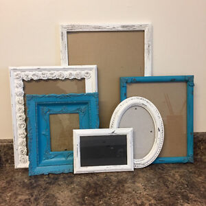 6 picture frames shabby chic finish