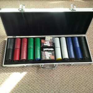 New Large Poker set for sale (with case)