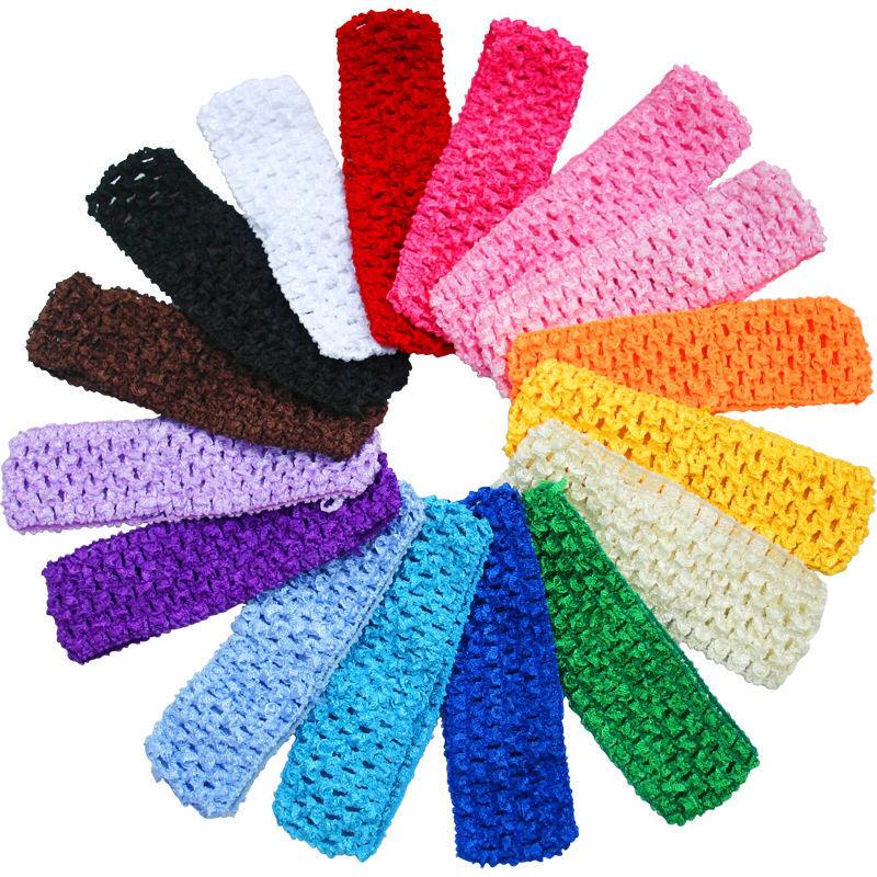 "Black Crochet Tube Top Elastic Waistband Headband Tutu 6/"" 7/"" 8/"" 10/"" inches"