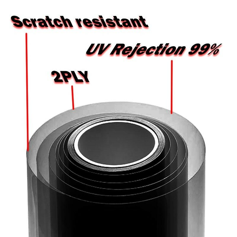 Película Tinte de ventana Roll sin cortar 5/% 15/% 25/% 40/% VLT ft pies coche oficina comercial uov