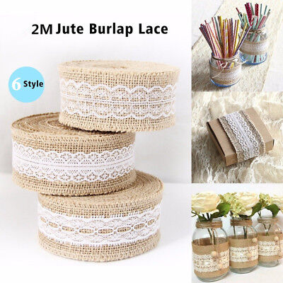 (HESSIAN LACE Ribbon Jute Burlap Rustic Chic Edge Wedding Vintage Craft Trim Roll)