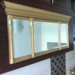 Gold Coloured Mirror with Beveled Edges