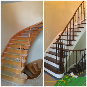 Stair Refinishing and Recapping