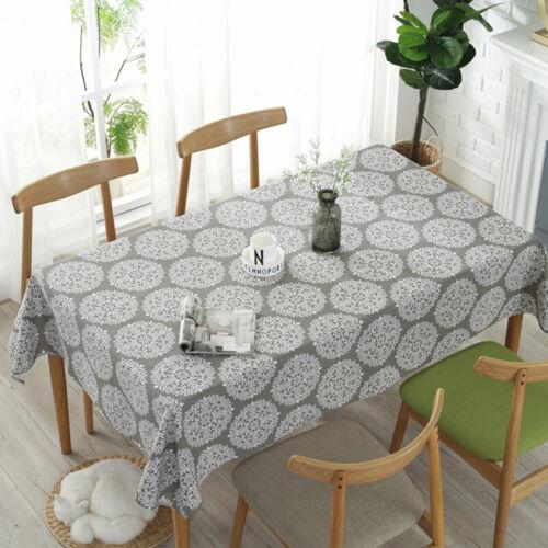 retro kitchen tablecloth cotton linen fabric rectangular