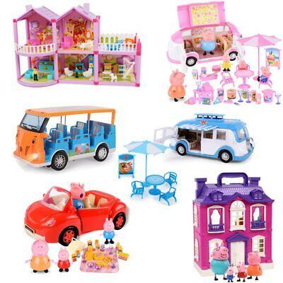 Peppa Pig Doll (Peppa Pig George Family Doll House Figure Children Toys Cartoon)