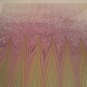 Beautiful Hand Crafted Marbled Painting - GREAT CONDITION!!!