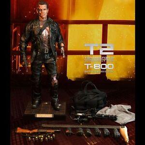 Enterbay T-800 Terminator 2 Battle Damaged HD 1/4 Quarter Scale Figure HD-1013