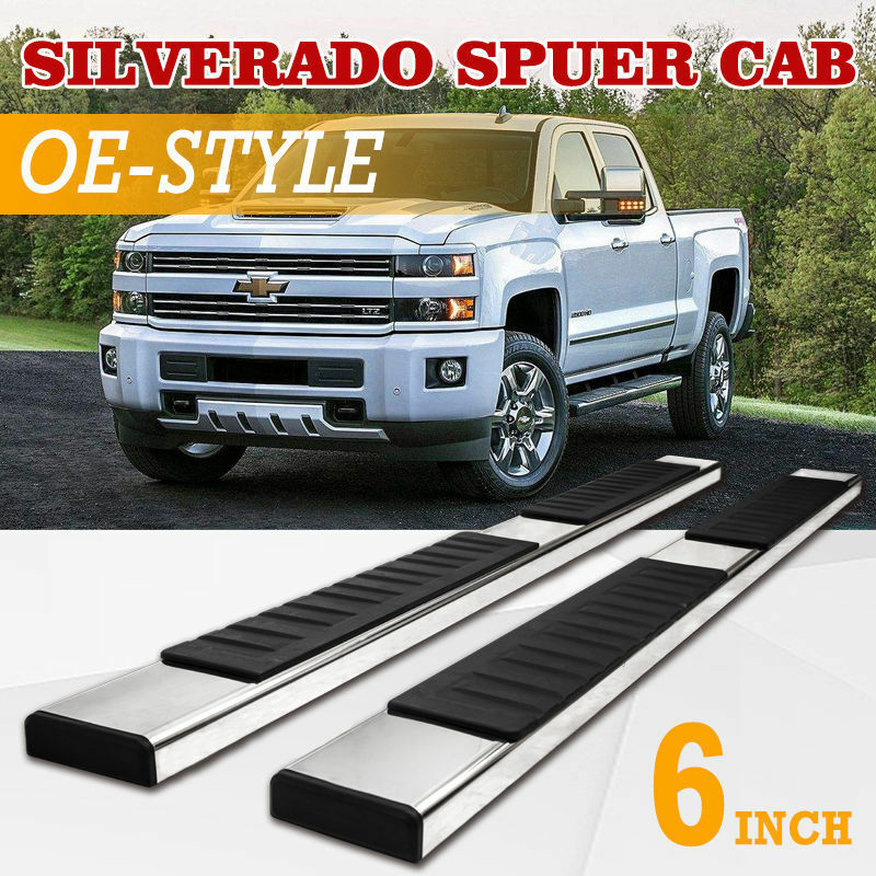 For Silverado//GMC Sierra Extended Cab 6 Stainless Steel OE Style Side Step Nerf Bar Running Board