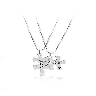 Her One His Only Creative Valentines Day Gift Silver Lover Necklace Pendant
