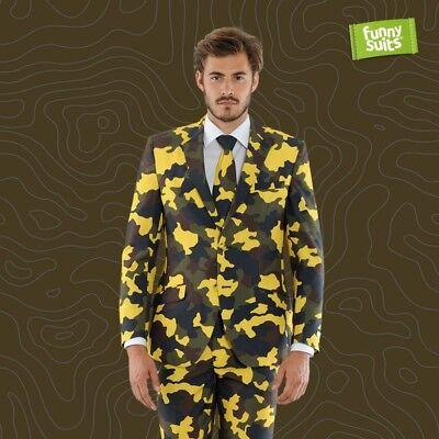 Tarn Military Anzug Camouflage Hide n Yellow 3-teiliger Anzug Kostüm deluxe EU