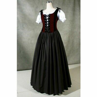 Noble Ladies Medieval Renaissance Long Dress Vintage Halloween Cosplay Dresses