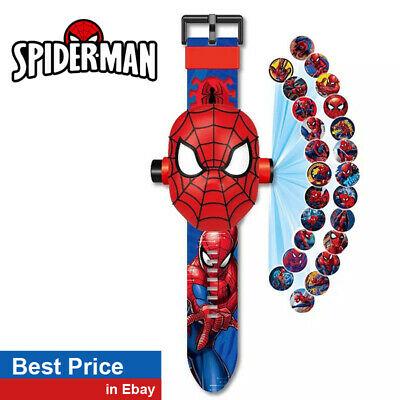 3D Spiderman Projection Digital Kids Watch Girl Boy  - Best Price Ebay !!!!