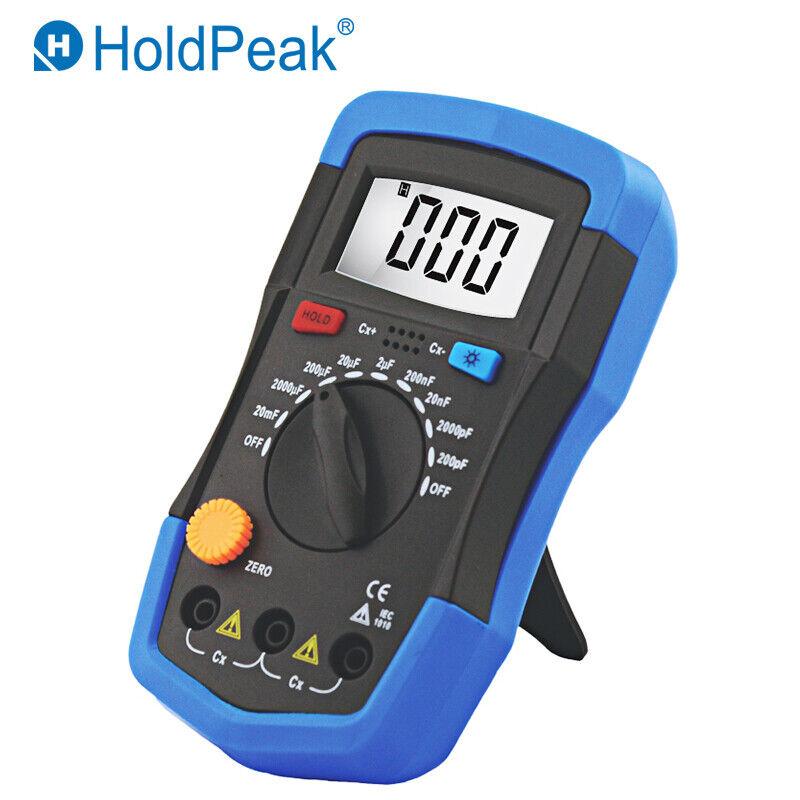 HoldPeak 200pF-20mF Capacitance Meter Capacitor Tester Measure Tool LCD Backlite