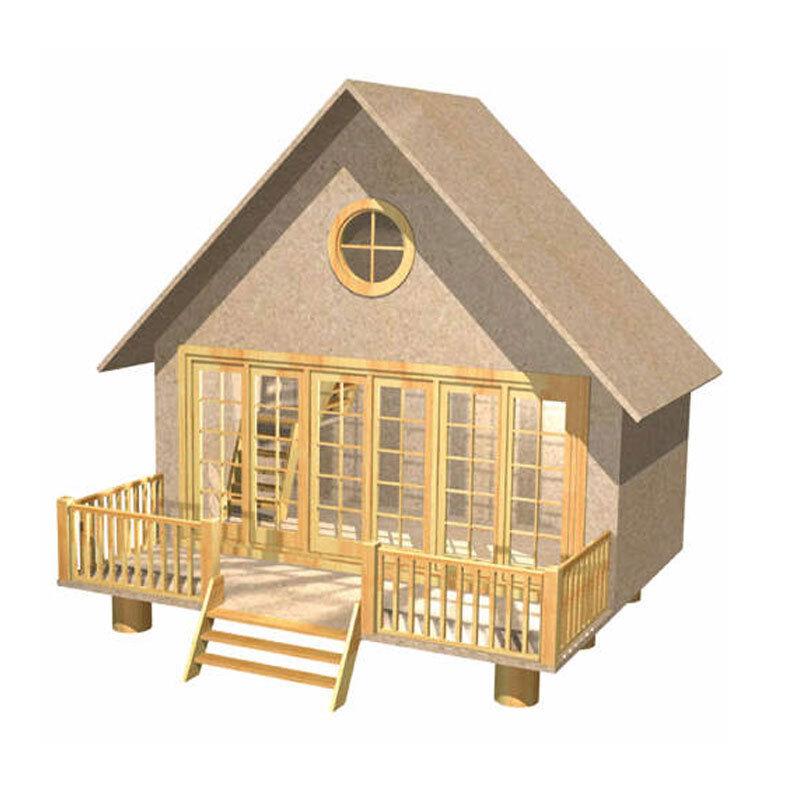 Puppenhaus Bausatz aus Holz mit kompletter Einrichtung