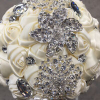 Ivory satin bouquet