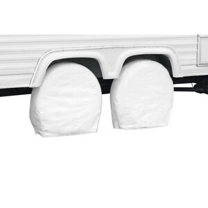 Classic Accessories 76230 Snow White RV Wheel Covers, Fits wheel