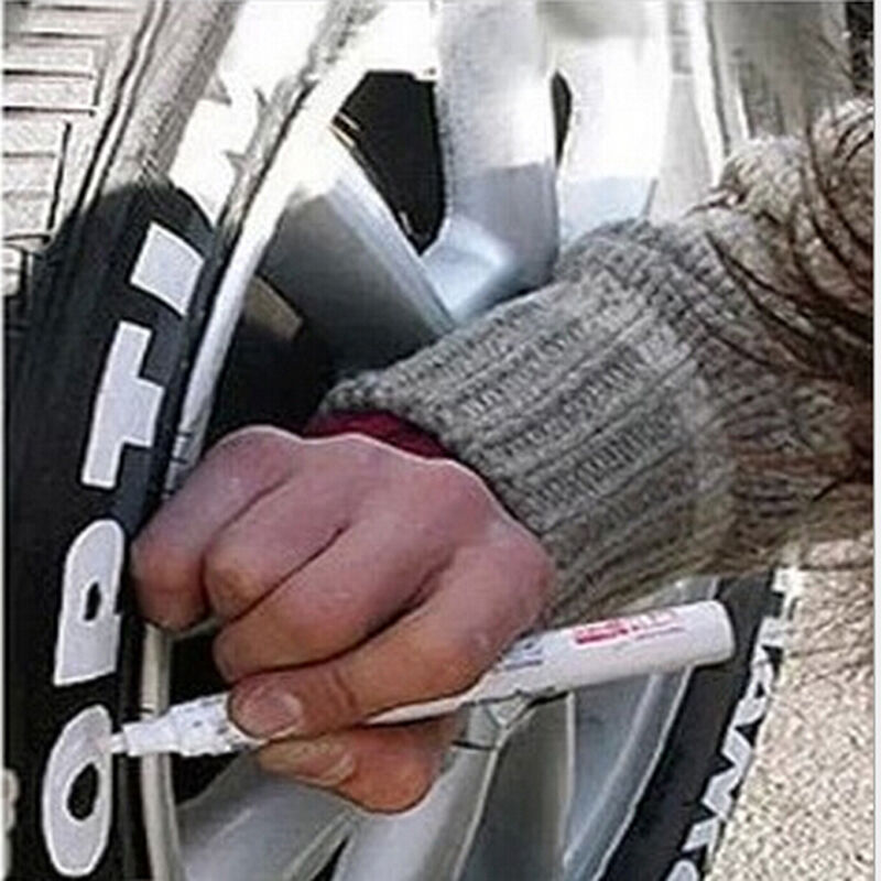 2pcs Car Tire Pen Accessories Motorcycle Tire Care Paint Marker Painting Pen