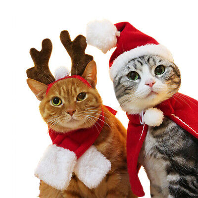 Xmas Costume For Dogs Cats Dog Hat  Headwear Scarf Cloak New Year's Cloak X09