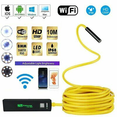 1200P WIFI Endoscope IP68 Wireless Inspection HD Camera for iPhone Android IOS