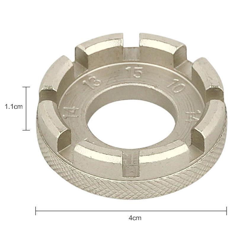 8 Way Bike/Cycle/Bicycle Spoke Key Push Wheel Rim Nipple Spanner Wrench Tool DIY