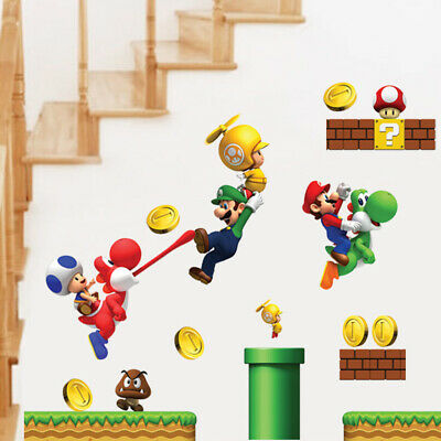 NEW Super Mario Games Wall Sticker For Kids Baby Boys Room Home Decorative](Mario Games For Kids)