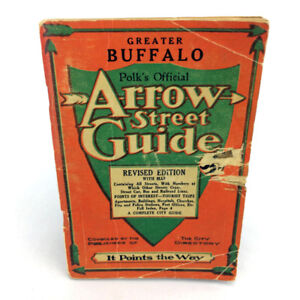 Buffalo New York Arrow Street Guide Book Polks Official 1940's