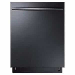 Lave-vaisselle avec troisième panier et technologie StormWash en Acier Inoxidable Noir Samsung ( DW80K7050UG )