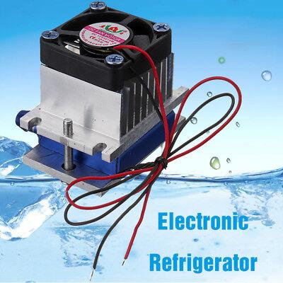 12v Thermoelectric Peltier Refrigeration Cooling Cooler Fan System Heatsink