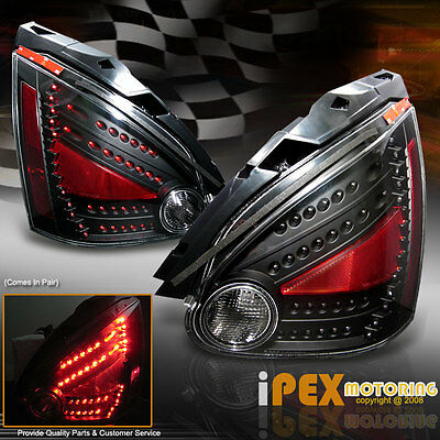 NEW For All 2004 2008 Nissan Maxima ULTRA Bright LED Tail Lights Black