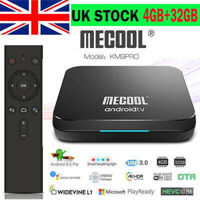 MECOOL KM9 Pro Smart Android 9.0 TV Box S905X2 4GB+32GB Dual Wifi Media Player
