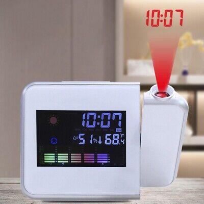LCD Radiowecker mit Projektion Snooze Datum Temperaturanzeige Tischuhr Wetter ()