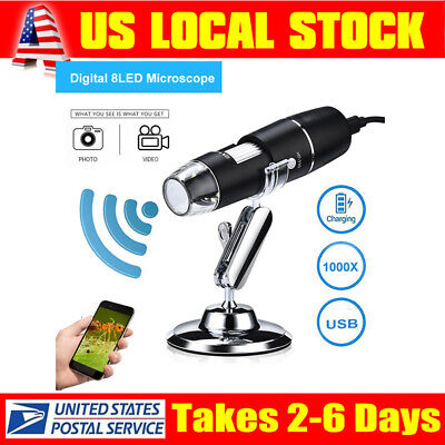 Wifi 1000x Video Microscope Endoscope Camera Magnifier With Stand Fr Androidios