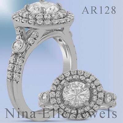 2.42CTW ROUND CUT ANTIQUE STYLE DIAMOND ENGAGEMENT RING AR128